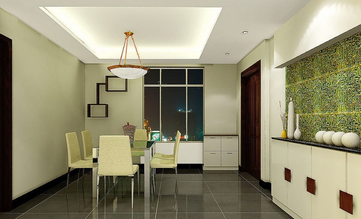 False ceiling design dining room